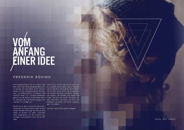 myp MAGAZINE | #editorial #layout #typography #graphic  As opposed to the image, I like how the line is worked through.
