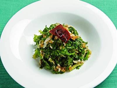 レシピ画像(16118) |元のページ: 鶏ささ身と春菊のおろしうましょうゆあえ レシピ 講師は菰田 欣也さん|使える料理レシピ集 みんなのきょうの料理 NHKエデュケーショナル