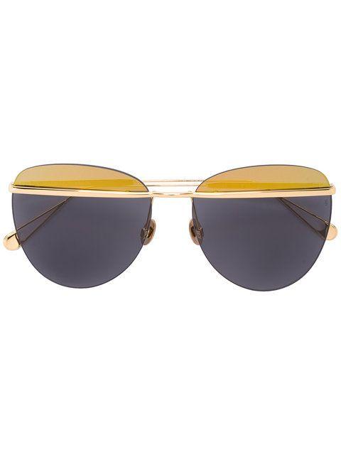 Shop Sunday Somewhere 58 Tallulah aviator sunglasses.