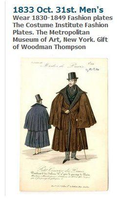 Men's Fashion 1820-1850 suzilove.com