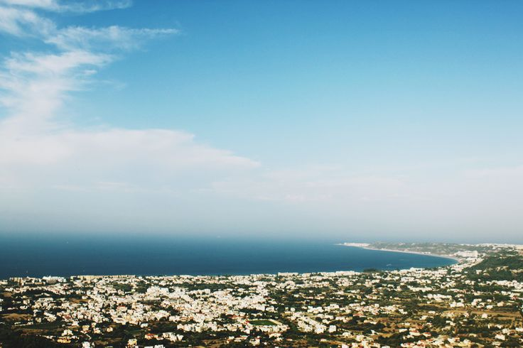 View over the city of Ialysos