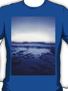 Coastal shoreline at low tide in blue Hasselblad medium format film analogue photography T-Shirt