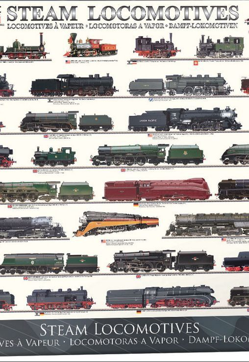 EuroGraphics Steam Locomotives 1000 Piece Jigsaw Puzzle