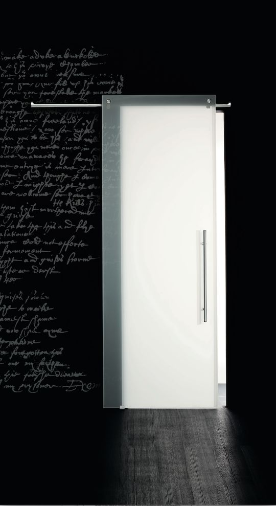 Casali porta in vetro, laccata, modello White
