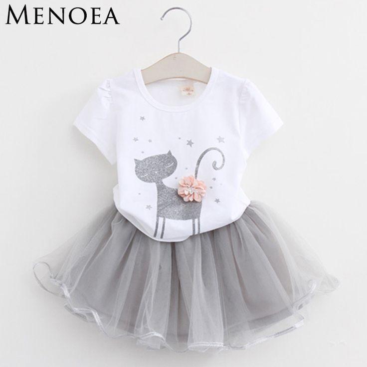 Menoea Girls Dress New 2018 Clothes 100% Summer Fashion Style Cartoon Cute Littl…