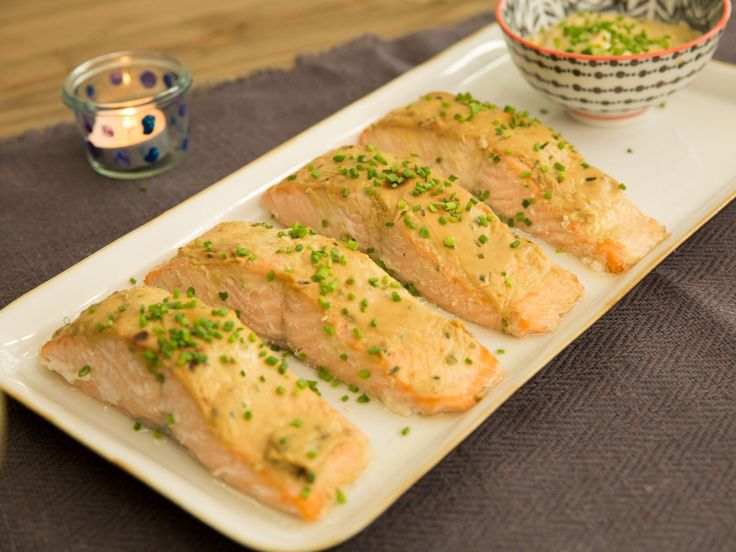 Baked Salmon with Honey Mustard Sauce recipe from Valerie Bertinelli via Food Network