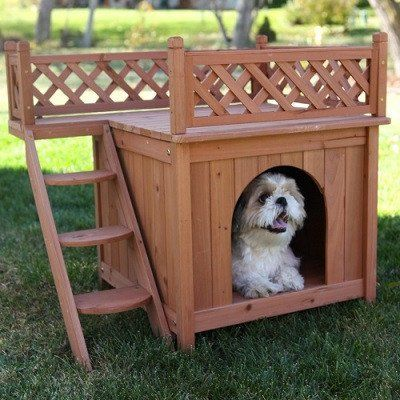 Room With A View -Small Dog House with Roof Top Deck – OfficialDogHouse