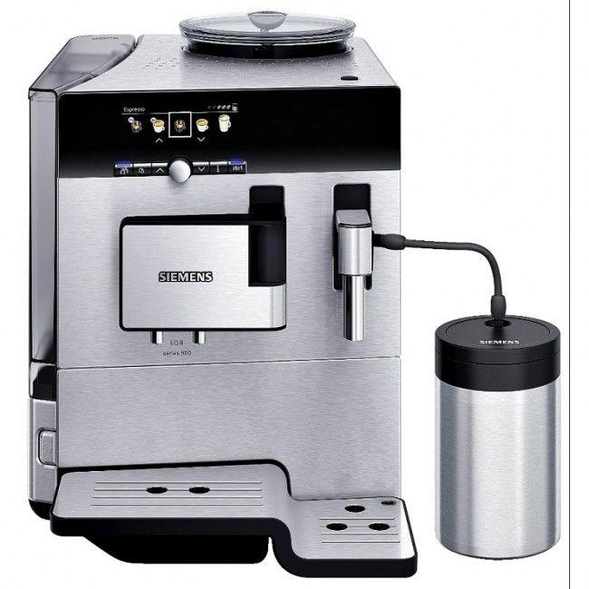 Siemens Kaffemaskin TE809201RW EQ8 Helautomatisk.  Denne kaffemaskinen er toppmodell fra Siemens.