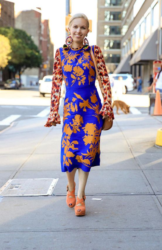 Pagoda Sleeve Tight Party Blue Yellow Floral Dress CN0101 Zenb.Com