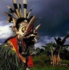 Hudoq Dance from East Kalimantan, Indonesia. There's something magical, a little bit spooky, about this mask. Really love it. I hope I could put it in my book someday