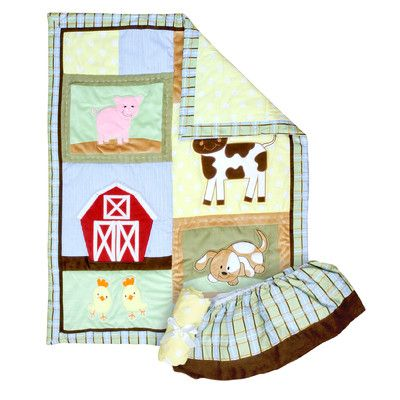 Features Set Includes Quilt 1 Crib Sheet And 1 Bed