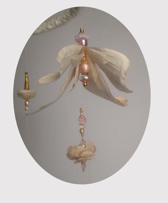 Elegant Mobile Golden Victorian Daydream white by ALTARTSTUDIO