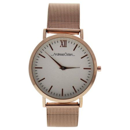 AO-135 Distrig - Rose Gold Stainless Steel Mesh Bracelet Watch, Women's