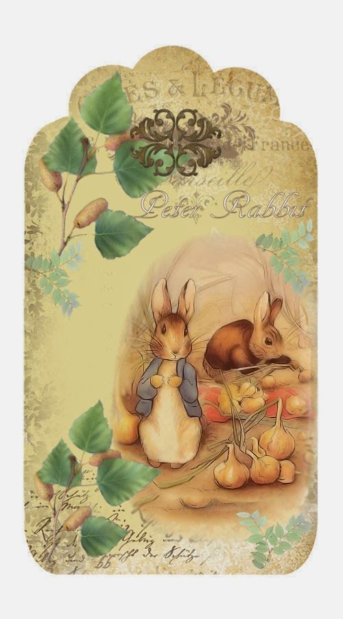 Brocante Brie - Peter Rabbit tag
