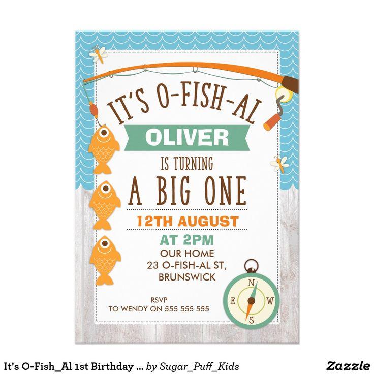 It's O-Fish_Al 1st Birthday Party Invitation