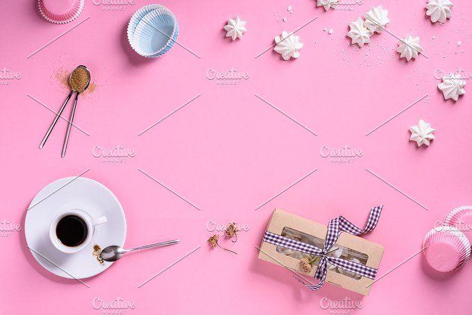 Coffee and meringues party by Iuliia Leonova on @creativemarket