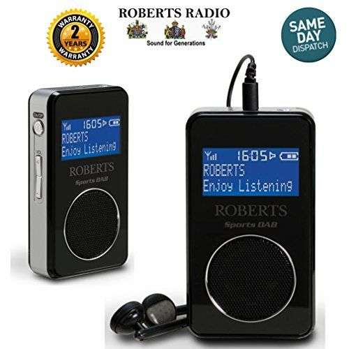 From 21.95 Roberts Sportsdab 6 Personal Dab Dab Digital Fm Radio Presets Built-in Rechargeable Battery Loudspeaker Sports Dab