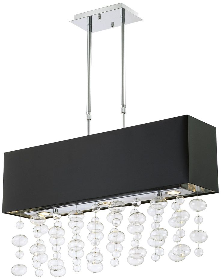 Bubble Cascade Possini Euro Design Rectangular Pendant    EuroStyleLighting.com