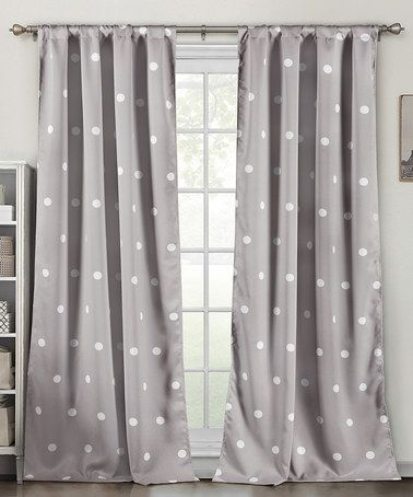 Look what I found on #zulily! Gray Dottie Blackout Heavy Curtain Panel - Set of Two #zulilyfinds