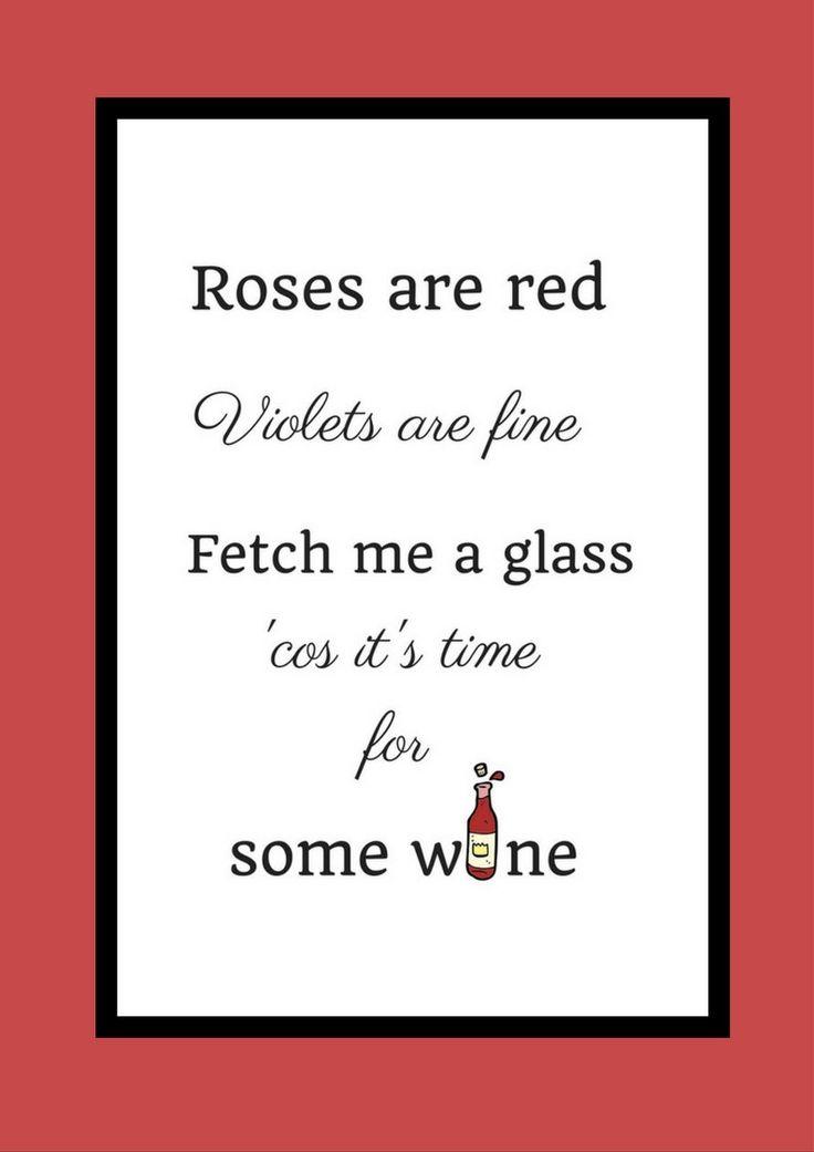 Wine Print | Wine Wall Art | Wine Pun | Wine Poster | Custom Print | Wine Lover Gift | Wine Wall Decor | Wine Art | Wine Birthday Gift by MoodyCowPoetryPrints on Etsy