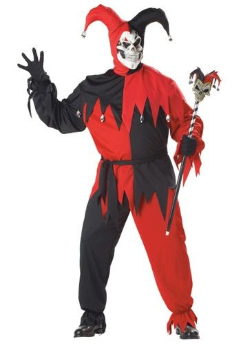 $38.99 If you want laughs, this Plus Size Evil Jester Costume may not be your choice. But if you want to be truly evil, this is the costume for you!