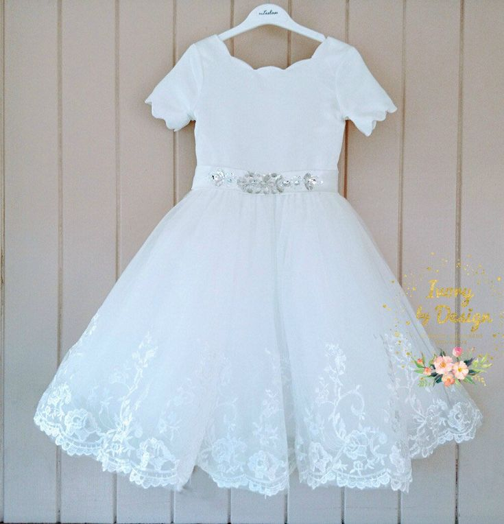 A personal favourite from my Etsy shop https://www.etsy.com/au/listing/565386520/flowergirl-dress-baptism-dress