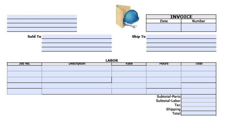Free general labor invoice template pdf word excel