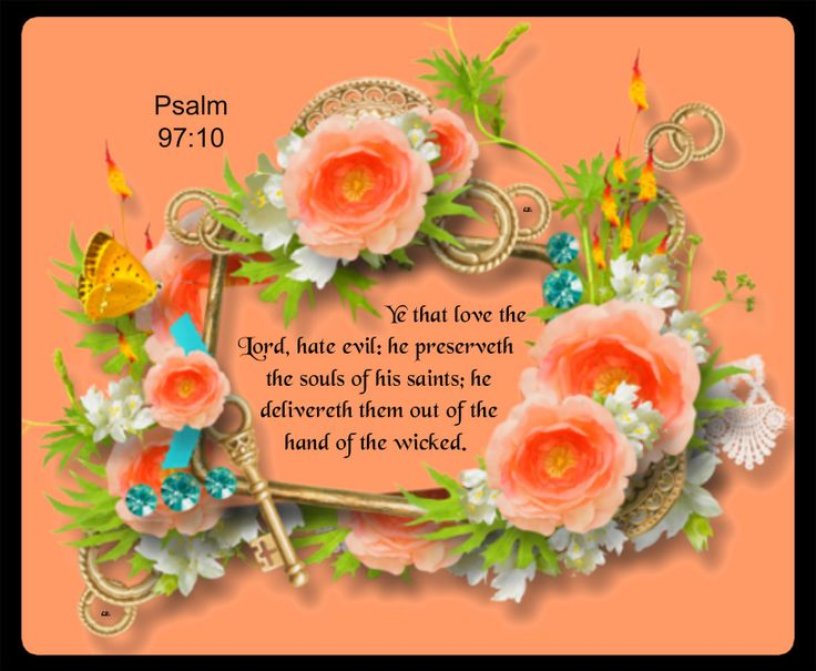 Psalm 97:10 *Ye that love the Lord, hate evil: he preserveth the souls of his saints; he delivereth them out of the hand of the wicked. <3