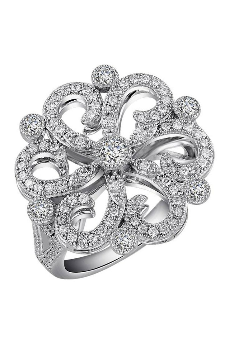 Simulated Diamond Victorian Ring on HauteLook This is beautiful too bad they didn't vintage cut it