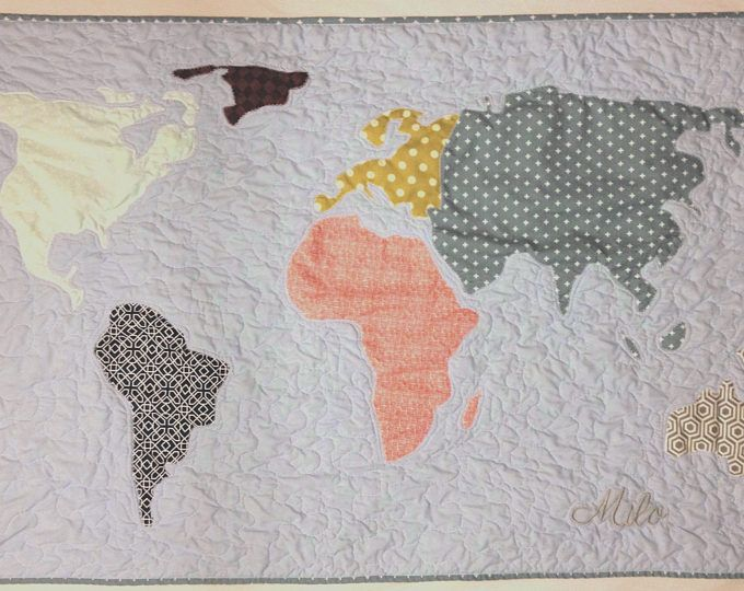9 best custom quilts images on pinterest custom quilts deco mesh adventure blanket custom baby quilt world map quilt continent personalized quilt adventure gumiabroncs Images