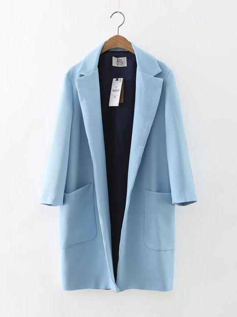 Неделя восемь 85-62023 Европа мода новый бойфренд Нагрудные с длинным ветровка куртка на ветру