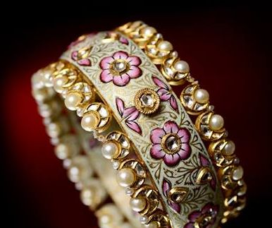 kundan bangle meenakari