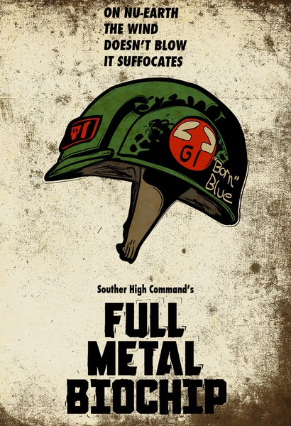 Full Metal Biochip Art Print Rogue Trooper - 2000AD