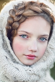 Blue eyes, pure Russian soul... Russian girls. Russian beauty. Braid. Winter.  #Beautiful #Photography #Russia #traditional #beauty #hair #makeup #face