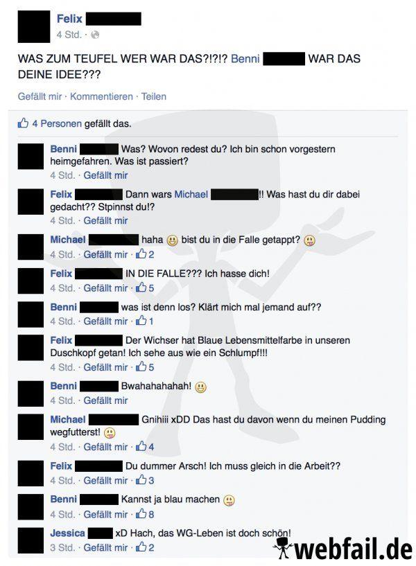 Einfach mal Blau machen - Facebook Fail des Tages 12.02.2016