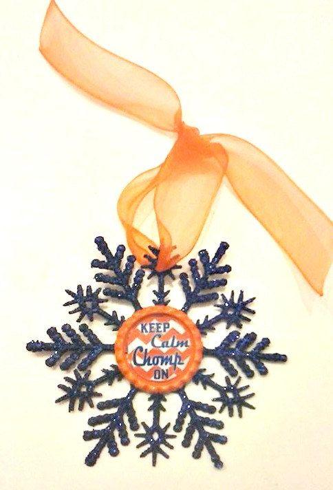 Florida Gators Ornament , Gators Christmas Ornament , Florida Gators  Decoration , Football Ornament By CCSBOWTIQUE2010