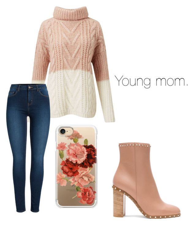 """""""Young mom"""" by djamilladjamilla on Polyvore featuring mode, Valentino, Miss Selfridge, Pieces en Casetify"""