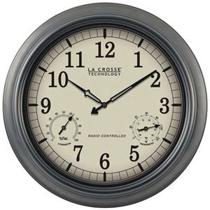 """La Crosse Technology Indoor And Outdoor 18"""" Atomic Wall Clock With Thermometer Hygrometer. #onlineshopping #online #shopping #shoponline #shopnow #sale #freeshipping #garden #decor #spring #gardening #decoration"""