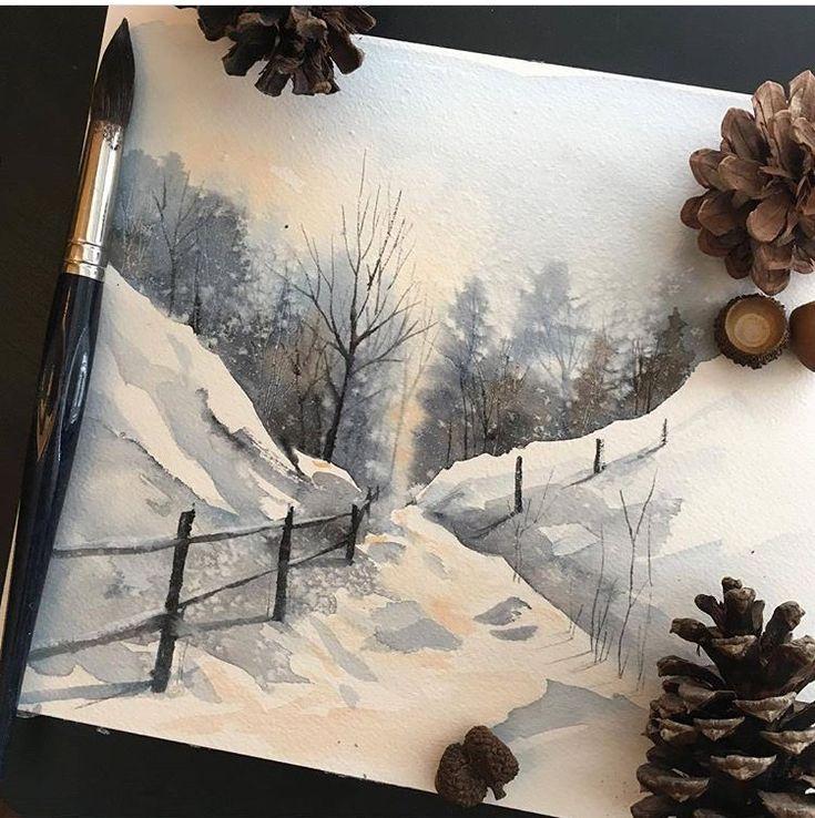 Snow scene from Instagram
