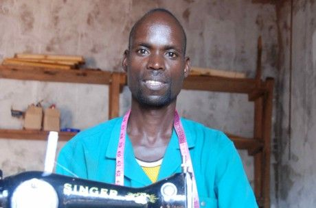 A former refugee who has returned to his home in Burundi, Adrian started a clothing shop with help from a UNDP scheme. 17,000 people are benefiting from UNDP's reintegration initiatives for both returning refugees and former combatants in Burundi.  Photo: UNDP Burundi