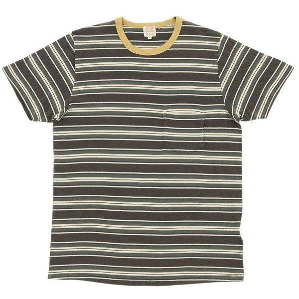 1960s/70s MINIMAL STRIPED Distressed Basic Vintage T Shirt // Size Large sXIhMXqo
