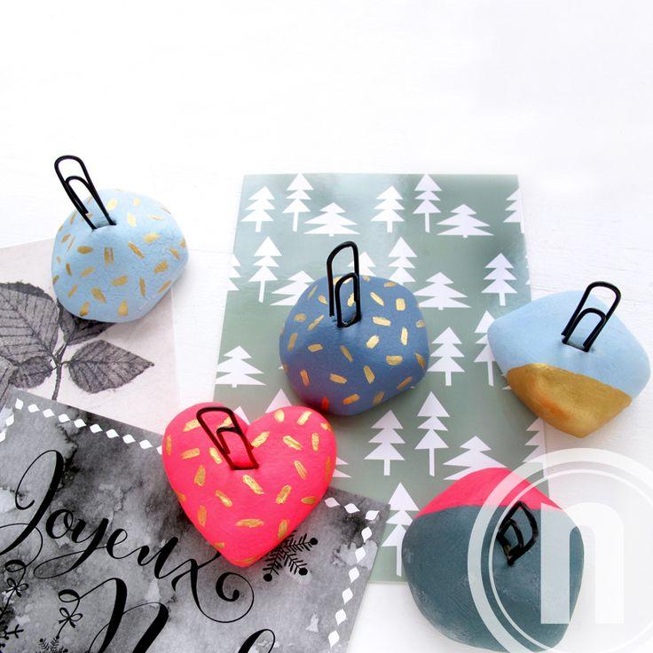DIY Kortholder til julens smukke kort. Trylledejen kan også bruge til andet pynt og sjove figurer.