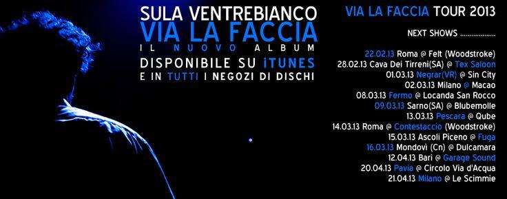 SULA VENTREBIANCO: NEXT SHOWS !!!  Stay Tuned