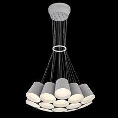 A 1-light led pendant from the Borto collection