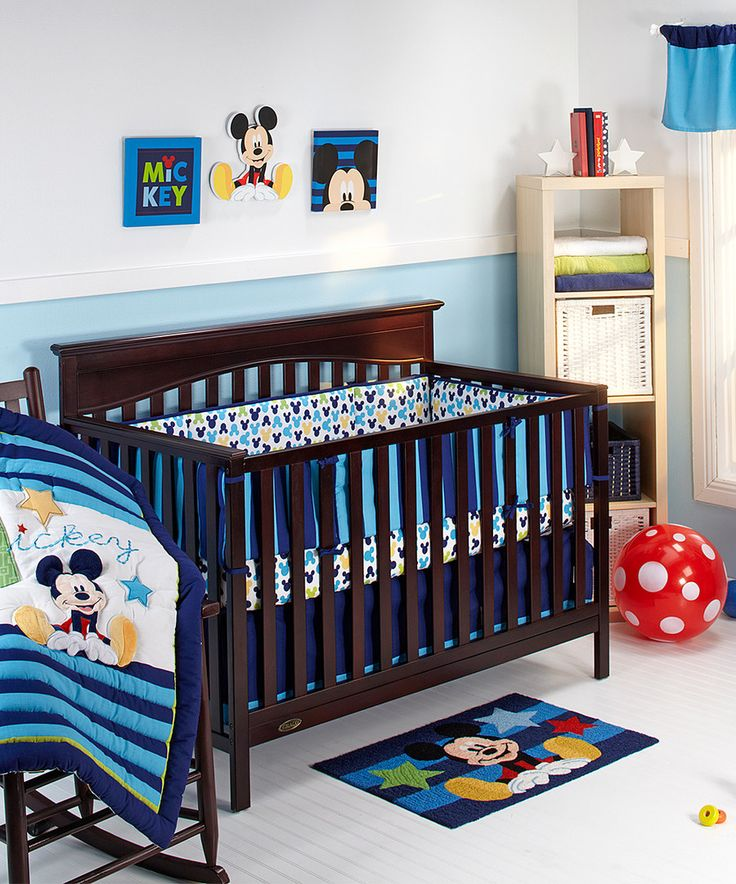 Look At This Mickey Mouse Deluxe Four Piece Crib Bedding