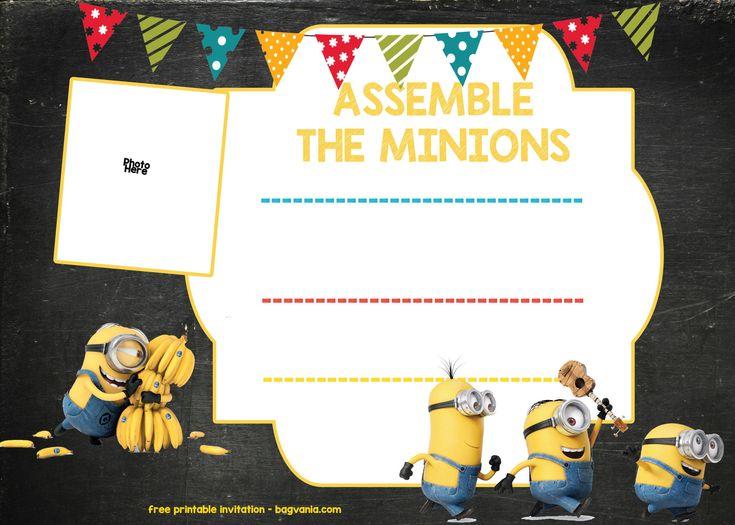 Pin On Minion Birthday Invitations