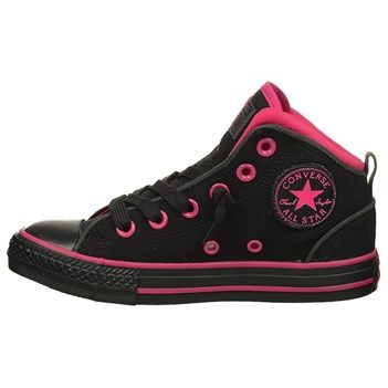 Converse Chuck Taylor All Star Static Mid Top Sneaker Black/Pink, I fit into a size 4 in children and I REALLY like the colors on these too! -rcc