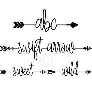 Silhouette Design Store: swift arrow font
