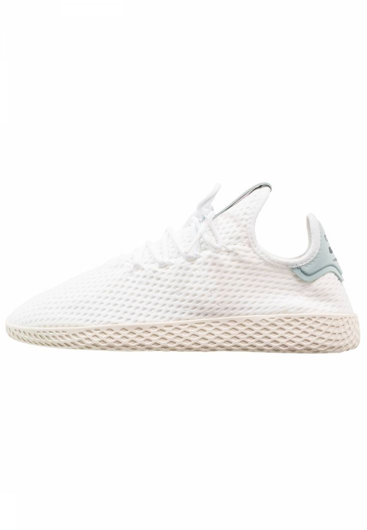 adidas Originals. PW TENNIS HU - Trainers - white/tactile green. Sole:synthetics. Padding type:Cold padding. Shoe tip:round. Heel type:flat. Lining:textile. shoe fastener:laces. Fabric:Mesh. upper material:textile. Insole:textile