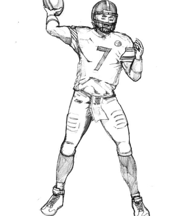 How To Draw Football Players Football Player Coloring Pages